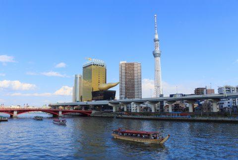 Tokyo Sky Tree and Sumida river in Tokyo