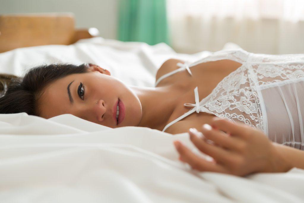 Sleepy Asian woman