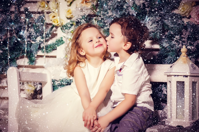Love of little boy and girl