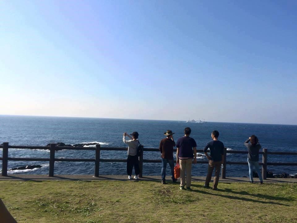 広大な「海」。天気が良い日は富士山が見えます